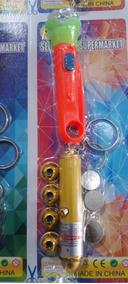 Kit Laser + Mine Lanterna + 3 Baterias + 4 Bicos. Chaveiro