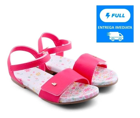 Sandália Infantil Bibi Menina Pink Com Ajuste Últimos Pares