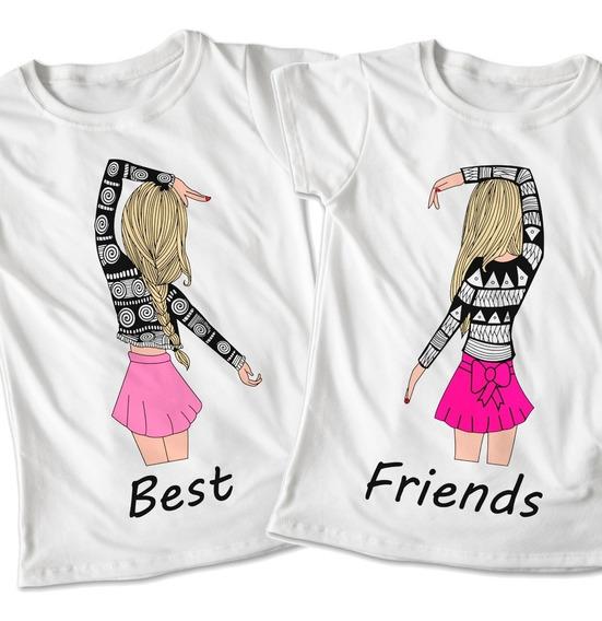 Blusas Mejores Amigas Best Friends Playera Estampado #393
