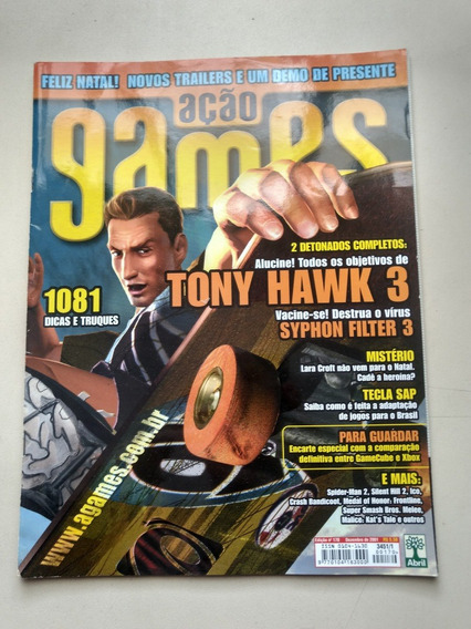 Revista Ação Games 170 Tony Hawk 3 Detonados Lara Croft Y288