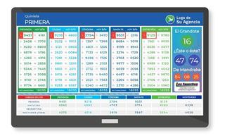 Sistema Sorteo En Vivo Plus Tablero Cartel Agencias Quiniela