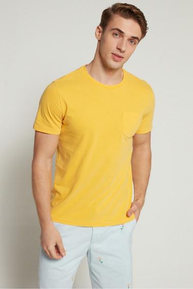 Camiseta Masculina Gap Original & Importada Amarela Bolso G