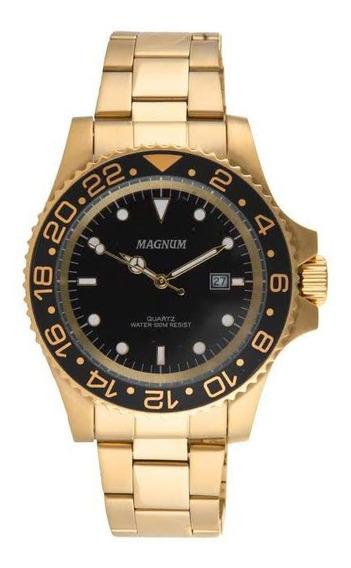 Relógio Magnum Dourado Ma 31328