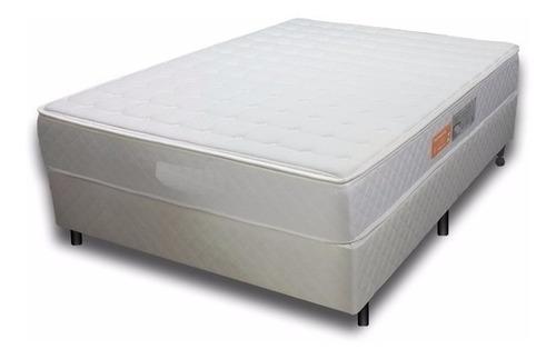 Sommier Queen Alta Densidad Espuma Ortopedico Pillow Top