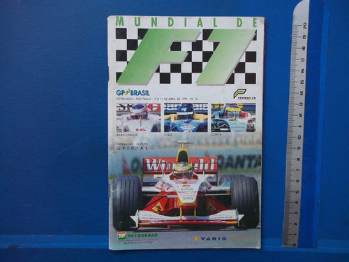 Revista Mundial De Fórmula 1 Gp Brasil 1999 Interlagos Sp
