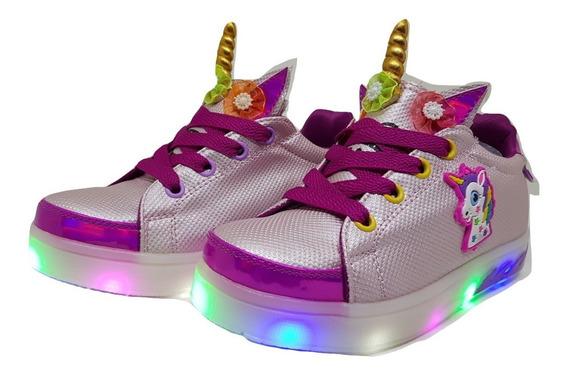 Zapatillas Con Luces Led Nenas/niñas My Little Pony Del 21 Al 32