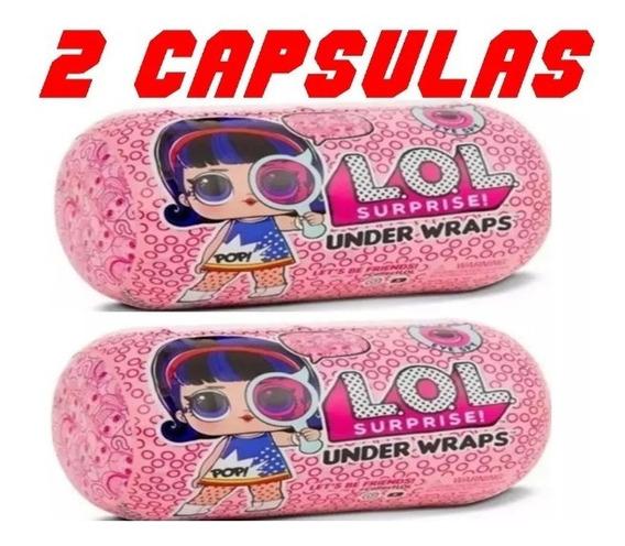 Lol Surprise Kit C/ 2 Under Wraps Capsulas 16x8 Boneca+acess
