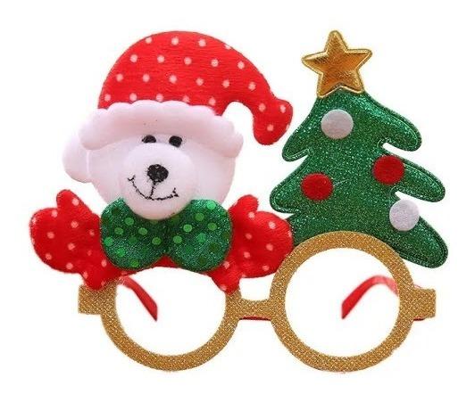 Lentes Navideños Osito Posada Fiesta Arbol Navidad Decoracio