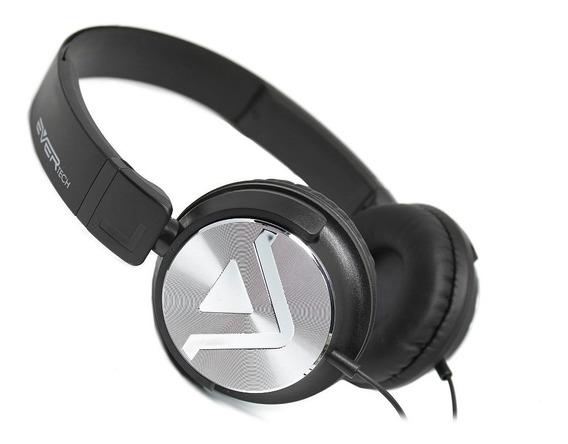 Novo Fone Headphone Dj Evertech Head Brand Power Bass Com Microfone - Evhp-20m/bs - Tipo Jbl Sony Bose