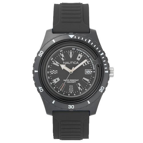 Relógio Nautica Masculino Borracha Preta - Napibz007