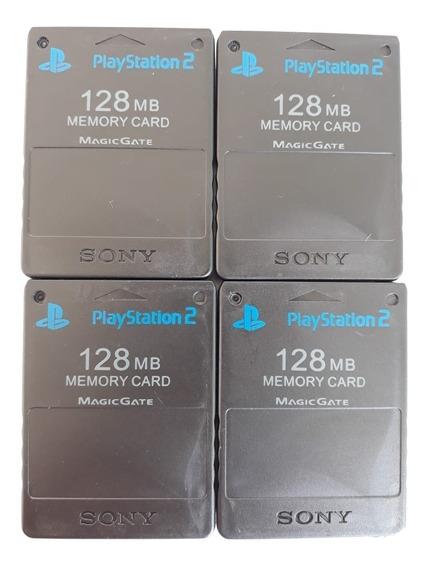1 Memory Card Ps2 128mb Novo Frete Melhor Pergunte