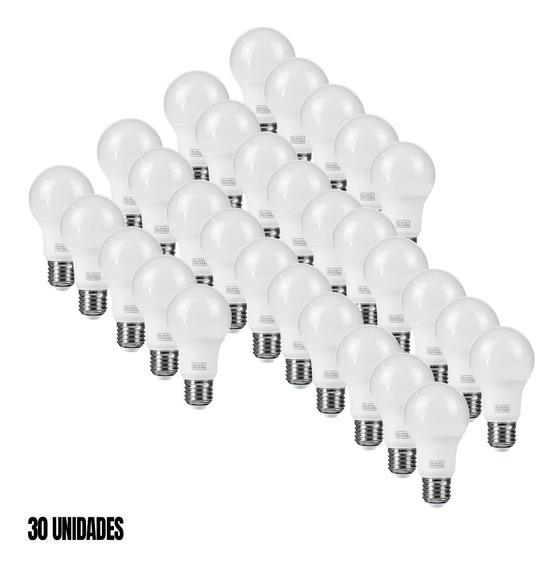 Kit 30 Lâmpadas Led Branca 9w Bulbo Black E Decker Bda6-0800