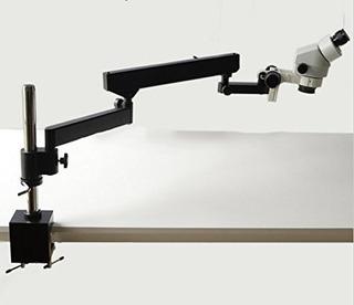 Gowe 7x-45x Binocular Articulating Arm Pillar Clamp Zoom Mic
