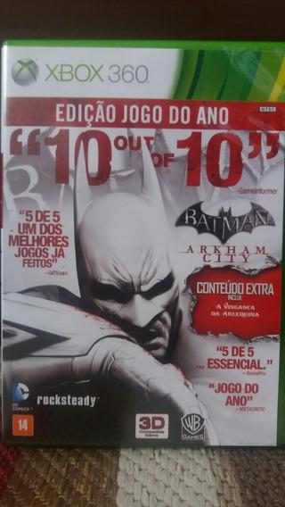 Batman Arkham City Xbox 360 Edição Jogo Do Ano