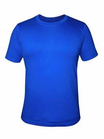 Camiseta Azul Para Personalizar 100% Poliéster Masculina