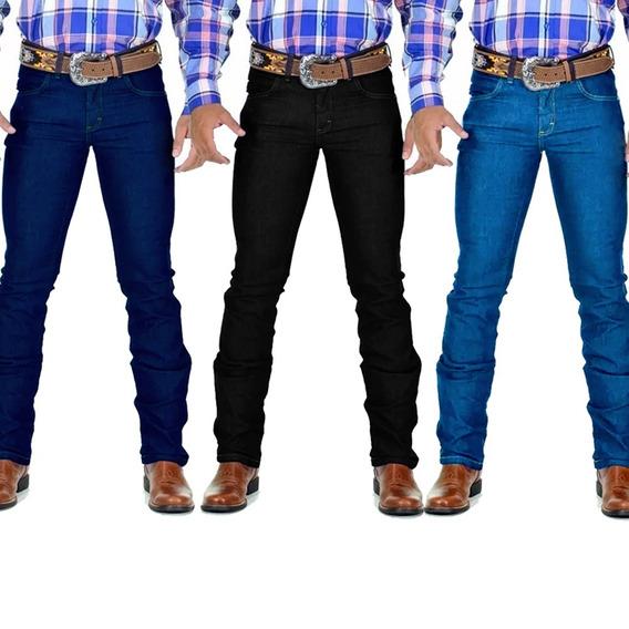 Kit 3 Calça Jeans Masculina Country Lycra Avant Atacado