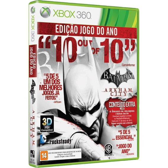 Batman: Arkham City Xbox 360 Original Novo Lacrado