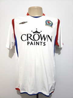 Camisa Oficial Blackburn Rovers Inglaterra 2009 Away Umbro G