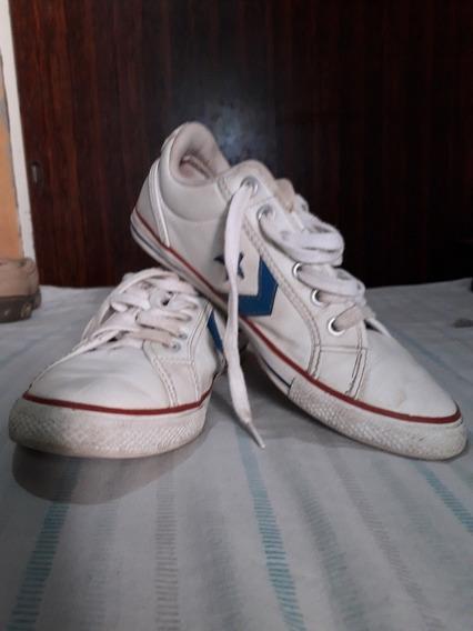 Zapatillas Cuero Converse Niño Nro 35