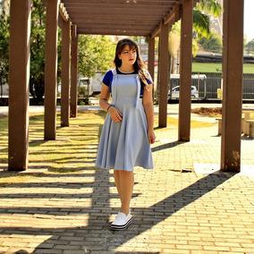 Jardineira Femininas Moda Evangélica Graziela 011