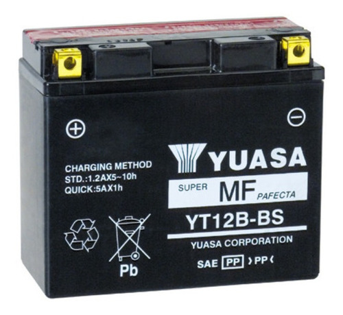 Batería De Moto Yuasa Yt12b-bs, Delivery.