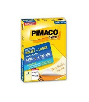 Etiqueta Pimaco 6185 - C/ 100 Folhas - 100 Etiquetas