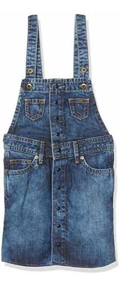 Vestido Para Niña Mezclilla Marca Pepe Jeans, Importado