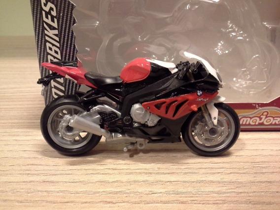 Miniatura Bmw S1000rr Vermelha Majorette Escala 1:24 (8,5cm)