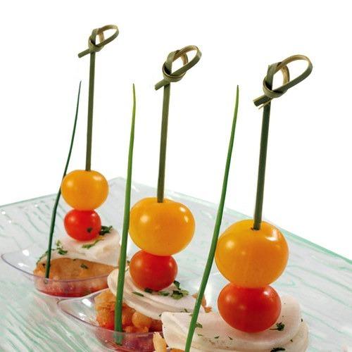 Pinchos De Bambu Para Finger Food - 9cm Nudo - Pack X100