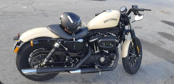 Harley Iron 883 Cor Bege, Moto Muito Nova E Muito Bem Cuidad