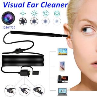3 En 1 Usb Oído Limpieza Cámara De Inspección Endoscopio Ear