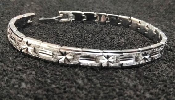 Pulseira Bracelete Masculino Aço Inoxidável Cirúrgico Prata