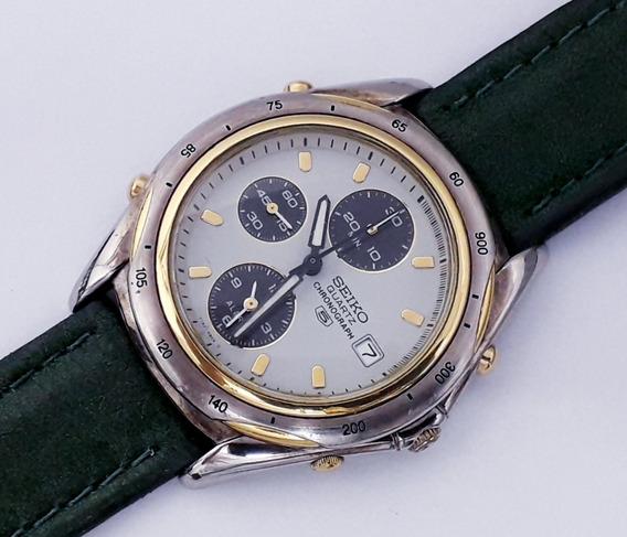 Relógio Seiko Y182 By 7t32 Chrono Alarme Série Ouro Anos 80