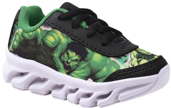Tênis Infantil Masculino Hulk Com Led.