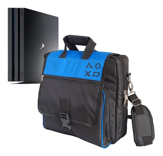 Bolsa De Transporte Ps4 Pro 4k Case Mochila Compartimentos