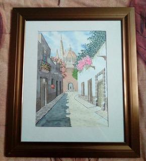 Litografias Acuarela Paisajes De Guanajuato