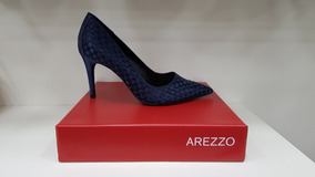 bc62699663 Arezzo Sapato Scarpin Azul Marinho - Sapatos no Mercado Livre Brasil