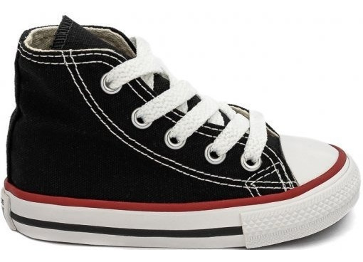 Tênis All Star Converse Kids Bota Preto E Branco - Original