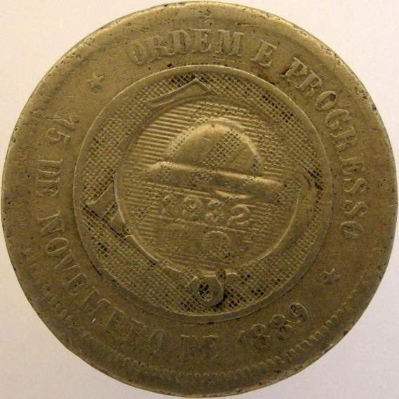 .moeda 100 Réis - 1889 - C/ Carimbo Campanha Do Ouro 1932
