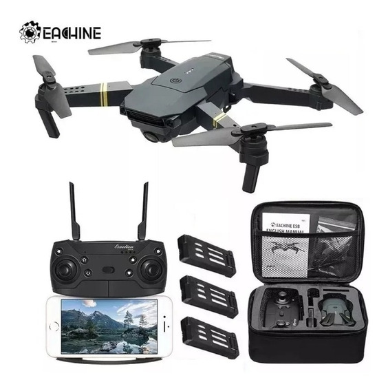 Drone Eachine E58 Camera 2 Mp + 3 Baterias + Bag Brinde Free