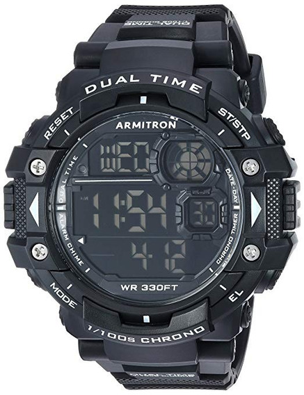 Reloj Armitron Sport 40/8309 Cronógrafo Digital Para Hombre, Negro Meses Sin Intereses Envio Express