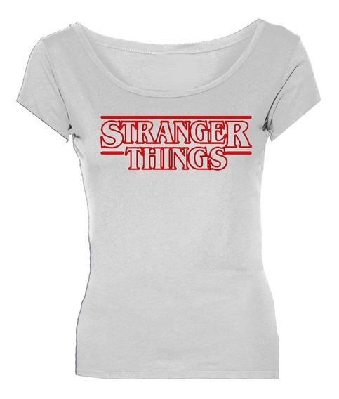 Remeras Stranger Things Logo Mujer *mr Korneforos*