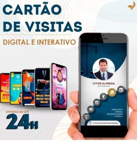 Cartão Digital Interativo Pronto Em Até 24h