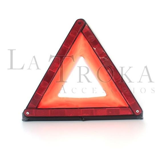 Triangulo De Señalamiento Reflejante Base Metalica