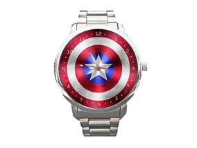 Relógio Capitão América Vingadores Captain Avangers Aço Inox