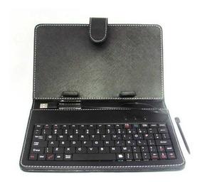 Capa Tablet Case Com Teclado 7 Ou 8, Usb Preta Ou Rosa