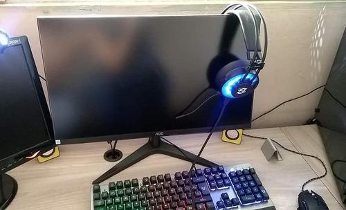 Imagem 1 de 3 de Headset Gamer E Teclado, Mouse