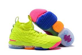 Tenis Nike Lebron 15 Volt Original Leia O Anúncio