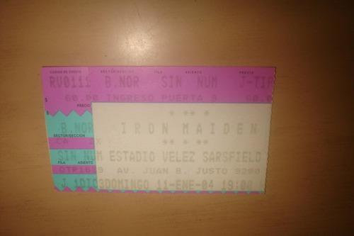 Iron Maiden - Entrada Velez, 11 Enero 2004