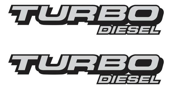 Emblema Adesivo Carro Ford F250 Turbo Diesel Branco Par
